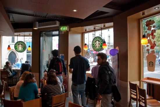Starbucks: View out to Queensway
