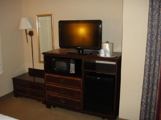 Hampton Inn Princeton: TV / Fridge
