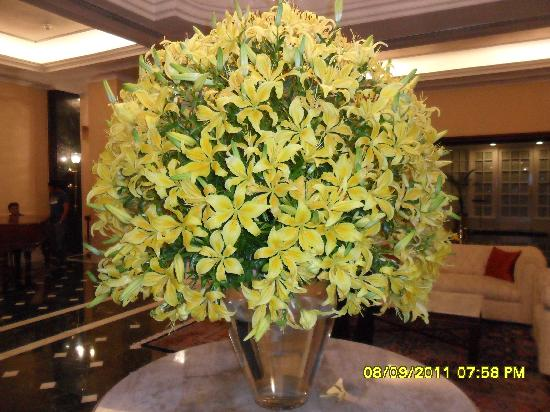 The Oberoi Grand: A  Bouquet at the Hall at the Rcepetion