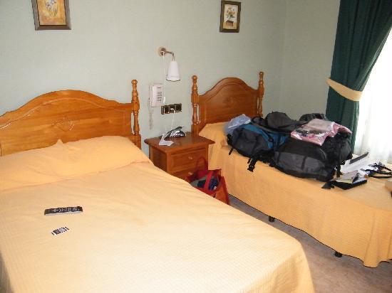 Hostal Cruz Sol: View from room entrance
