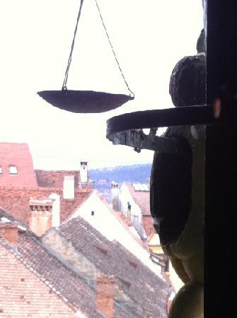 Pension am Schneiderturm: Clock tower
