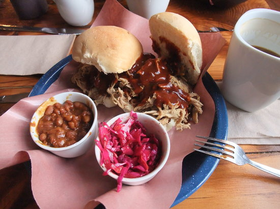 Pig Iron Barbecue: pulled pork sandwich