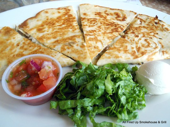 All Fired Up: Smoked Oyster Quesadilla