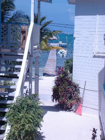 Costa Maya Beach Cabanas: View from back upper floor room