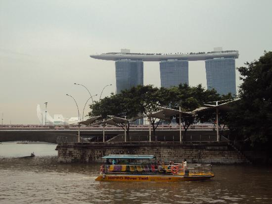 Esplanade Park: a view of MBS and ArtScience Museum