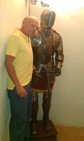 Castello di Monterone: My BF and his new friend :)