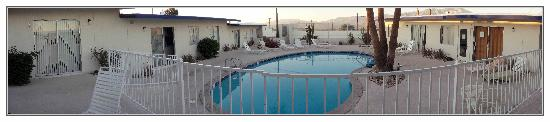 Living Waters Clothing-optional Spa: Here is the pool area