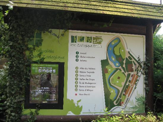 Lille Zoo: Le plan du parc zoologique de Lille