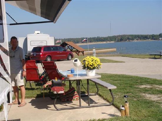 Northshore RV Resort on Lake Livingston: view on the lake