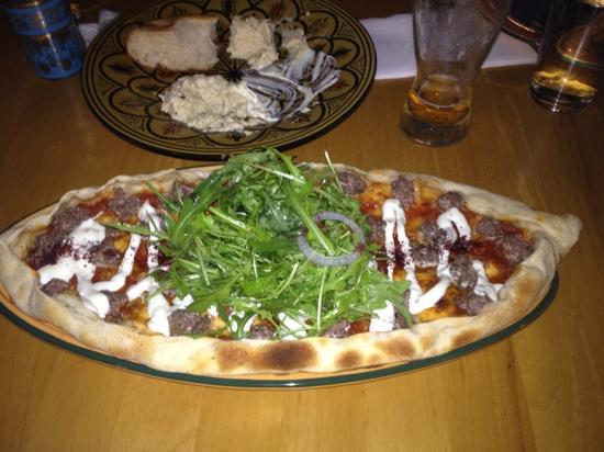 Mecca Bah Gold Coast: Lamb Kofta Pizza