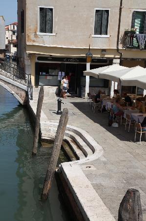 Il Refolo: Terraza junto al canal