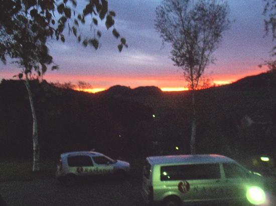 H+ Hotel Willingen: Blick vom Balkon morgens um 7 in Usseln