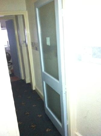 The Ashlea Hotel: fire doors wide open