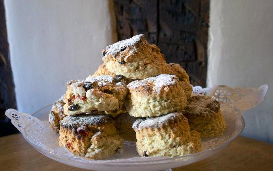 freshly baked scones served warm from the aga  - only the very strong willed will be able
