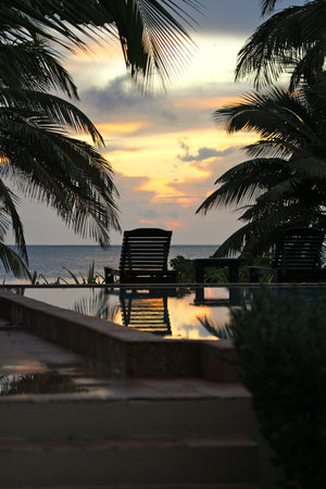 El Pescador Resort: view from villa at sunrise