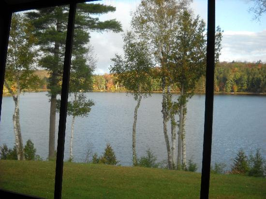 Long Lake, NY: Morning on the lake from the screened porch