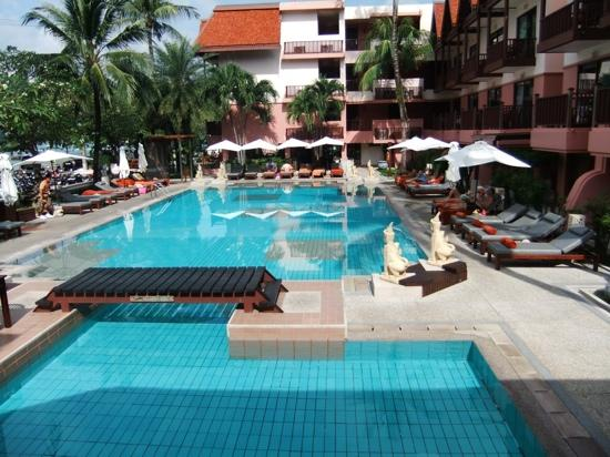 Seaview Patong Hotel: one of two pool areas facing the beach