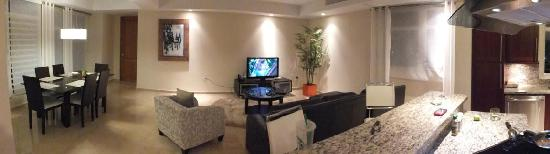 Ciqala Luxury Suites: Panorama Of Living Room With Dining Area And Part Of  Kitchen