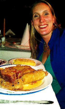 Crama Sibiul Vechi : wife's meal- looks greasy...tasted like heaven!