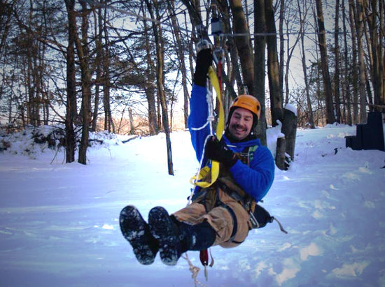 Big Bear Ziplines: We are open year round! Try out some snow zipping!