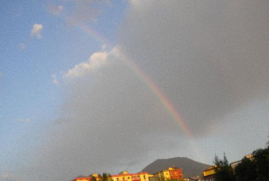 Rainbow over Vesuvius