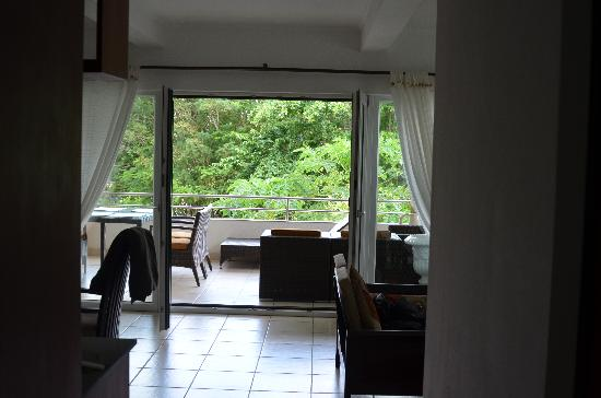 Hanneman Holiday Residence: Der Blick auf unsere Terrasse