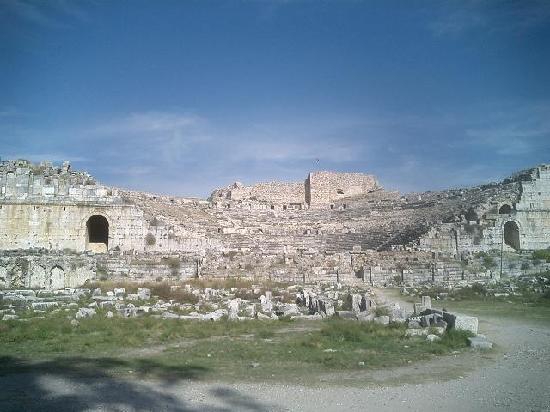 Didim, Turquía: 円形劇場下から