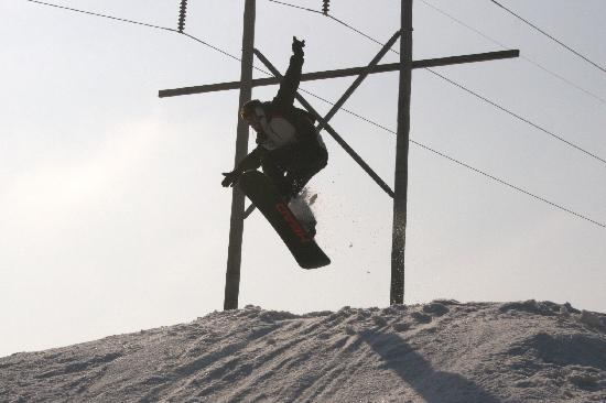 Paoli, IN: one trail full of jumps