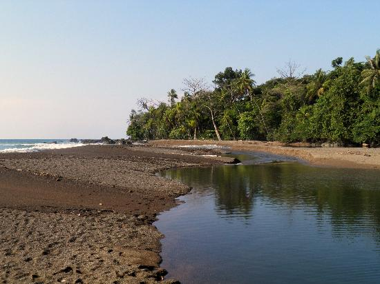 Drake Bay, Kosta Rika: Where the river meets the ocean