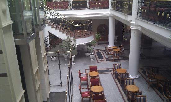 Constantinos the Great Beach Hotel: inside hotel bottom floor