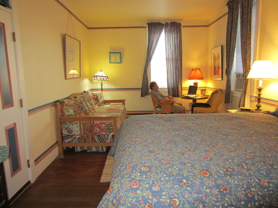 Grand Hotel: We loved the high bed and the tall windows