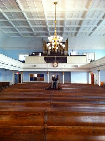 First African Baptist Church: inside the church along with the oldest pipe organ in Georgia.