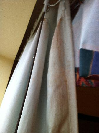 Pacific Inn Resort and Conference Centre: Rust Stain on Curtain