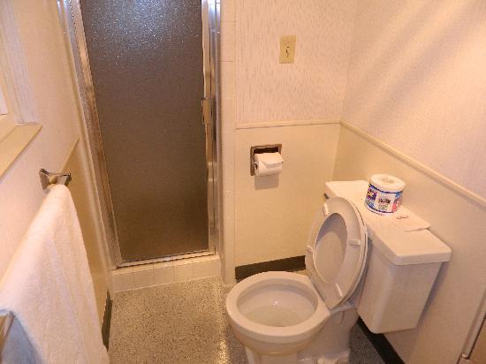 La Jolla Beach Travelodge: Clean, comfy bathroom