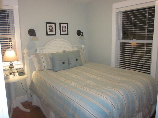 "Seabrook Cottage Rentals: ""Life is Good"" master bedroom."