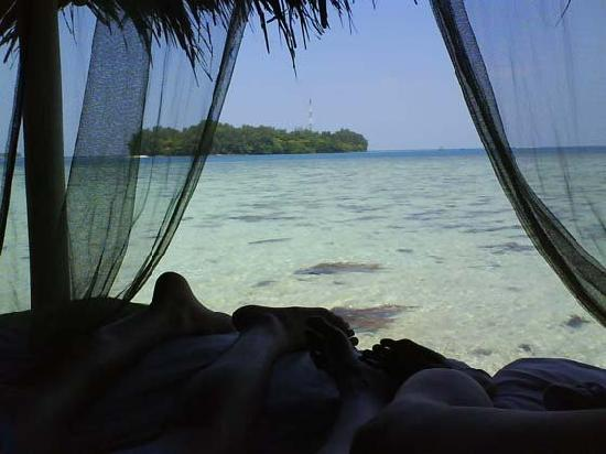 Pulau Macan Tiger Islands Village & Eco Resort: View to wake up to