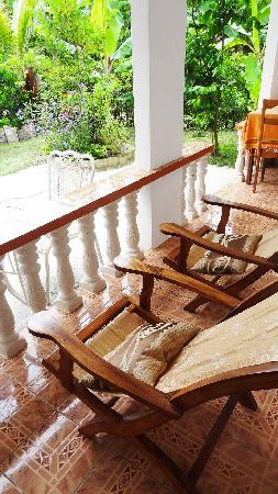 Buisson Guesthouse La Digue: Veranda