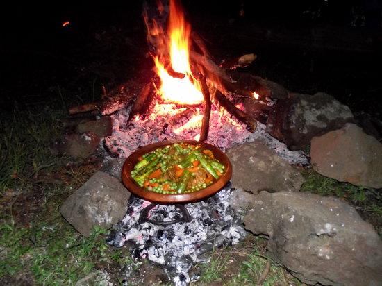 Morocco Unexplored - Private Day Tours: Lamb Tajine on Campfire above Azrou