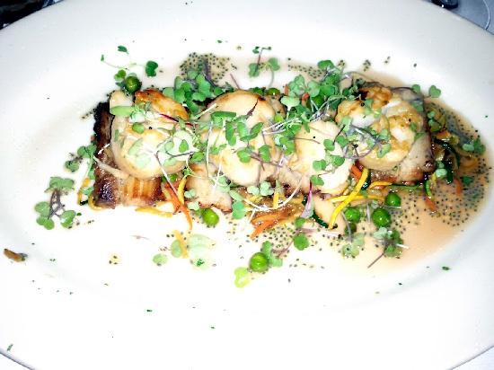 Marsha Brown's: Challemette Scallops over Pork Belly  DEeeeelish!