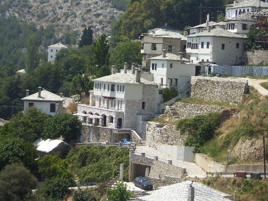 Archontika Karamarlis: The hotel buildings, as seen from the main road
