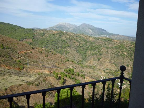 Hotel Cerro de Hijar: view from our balcony