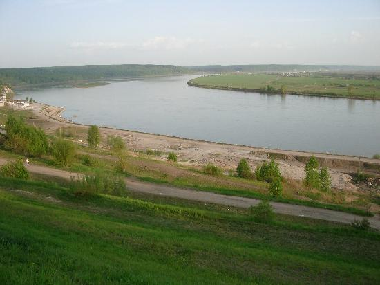 Tomsk, Ryssland: el rio