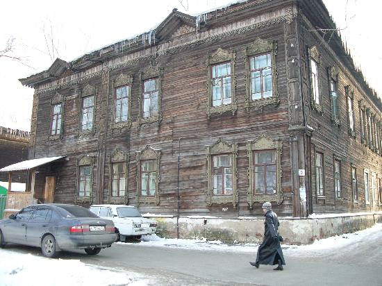 Tomsk, Rusia: casa típica