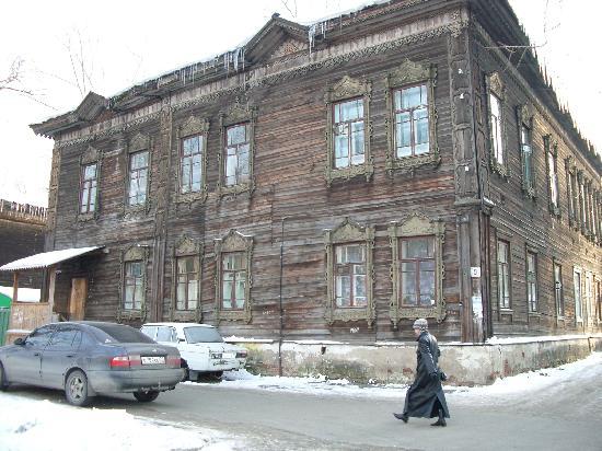 Tomsk, Ryssland: casa típica