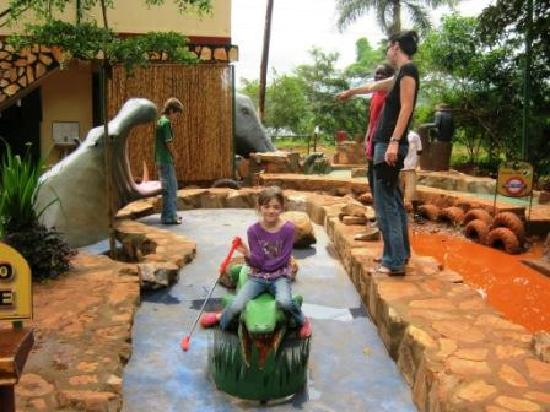 Big Game Mini Golf: the Waterhole - mind the croc!