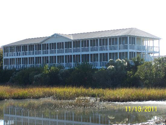 The Sunset Inn: View of the back of the Inn and the Marsh