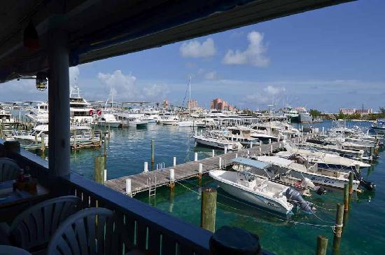 The Poop Deck: Beautiful view of Nassau Harbor