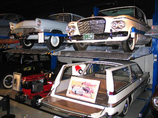 Studebaker National Museum: Treasures in the museum basement include a prototype sliding roof station wagon.