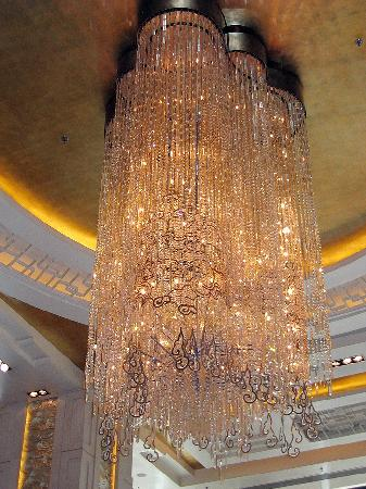 Shangri La Hotel, Beijing: Fancy Chandelier Detail In The Lobby.