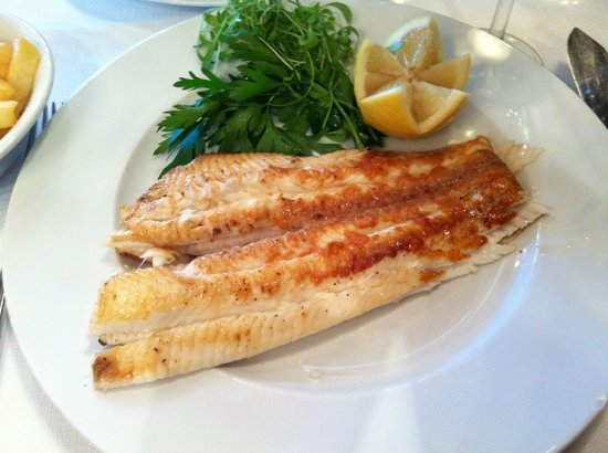 Maritime: fried Dover sole